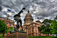 "Austin, Texas, ""State Capitol"", Capital, Cowboy, HDR, Photo,"
